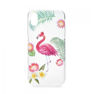 Etui Forcell Summer Flamingo do Huawei Mate 10 Lite transparentne