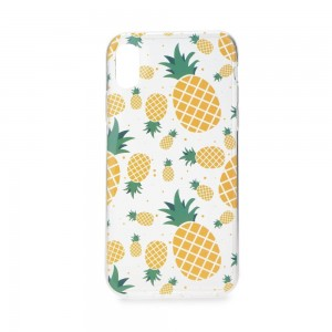 Etui Forcell Summer Pineapple do Samsung Galaxy S7 Edge transparentne