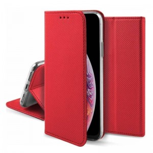 Etui Magnet Book do Samsung Galaxy J6 Plus czerwone
