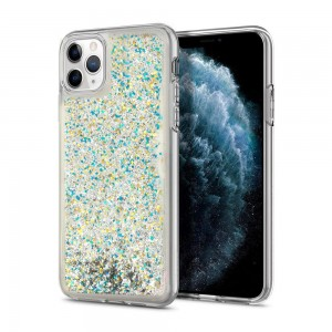 Etui Vennus Liquid Glitter do Samsung Galaxy J6 Plus srebrne