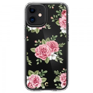 Etui Spigen Cyrill Cecile Pink Floral do Apple iPhone 12 Mini transparentne