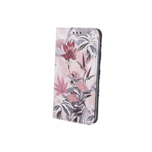 Etui Magnet Book Spring Flowers do Xiaomi Redmi 9 różowe