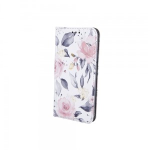 Etui Magnet Book Spring Flowers do LG K42 białe