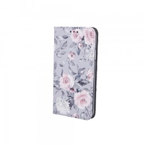 Etui Magnet Book Spring Flowers do Samsung Galaxy A20e szare