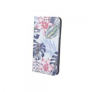 Etui Magnet Book Spring Flowers do Samsung Galaxy A12 niebieskie